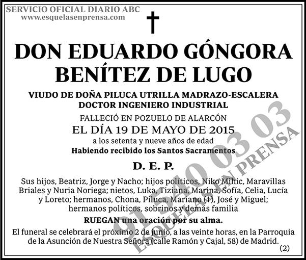 Eduardo Góngora Benítez de Lugo
